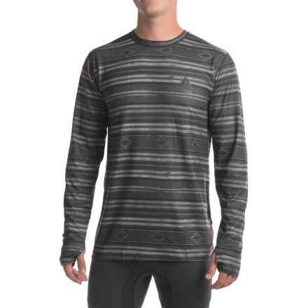 Burton Midweight Base Layer Top - UPF 50+, Crew Neck, Long Sleeve (For Men) in Faded Stag Stripe - Closeouts