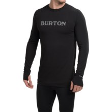 Burton Midweight Crew Base Layer Top - UPF 50+, Long Sleeve (For Men) in True Black - Closeouts
