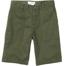 Burton Military Chino Shorts (For Boys) in Olive - Closeouts