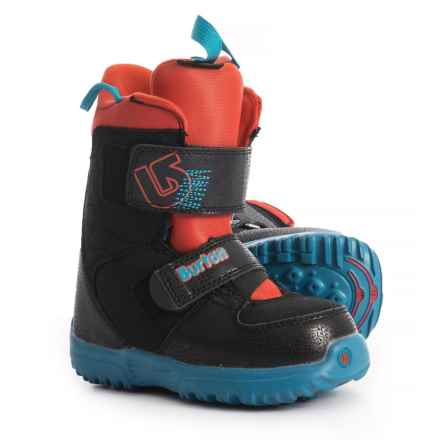 Burton Mini Grom Snowboard Boots - Insulated (For Little and Big Kids) in Webslinger Blue - Closeouts
