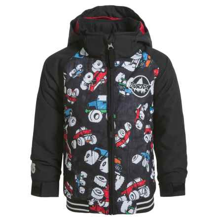 Burton Minishred Game Day Bomber Jacket - Waterproof, Insulated (For Toddler and Little Boys) in Offroad/True Black - Closeouts