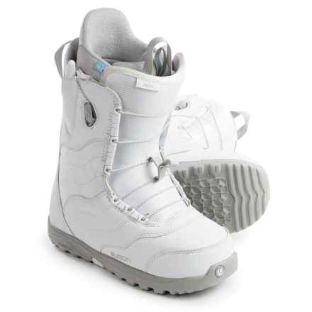 Burton Mint Snowboard Boots (For Women) in White/Gray - Closeouts