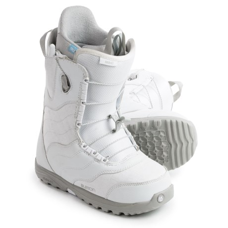 Burton Mint Snowboard Boots (For Women) in White/Gray