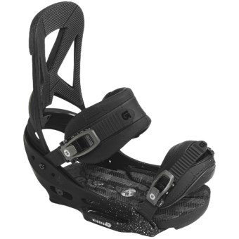 Burton Mission EST Snowboard Bindings in Black Lung