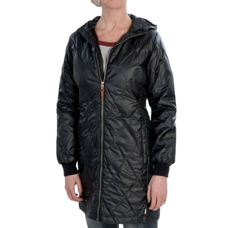 Burton Monarch Down-Filled Trench Coat (For Women) in Vanilla Ice