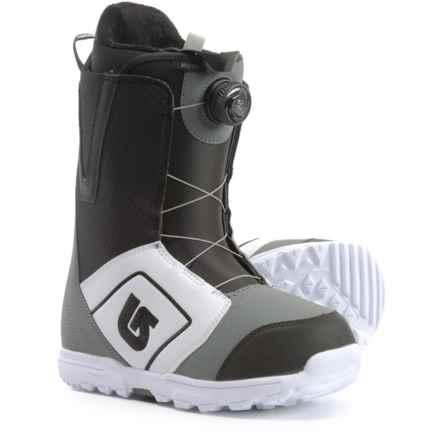Burton Moto BOA® Snowboard Boots (For Men) in White/Black/Gray - Closeouts
