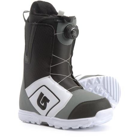 c6329fcc Burton Moto BOA® Snowboard Boots (For Men) in White/Black/Gray