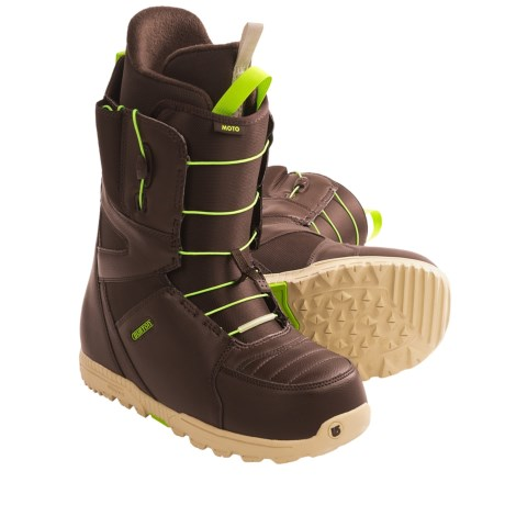 Burton Moto Snowboard Boots (For Men) in Brown/Green