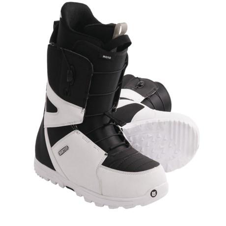 Burton Moto Snowboard Boots (For Men) in White/Black