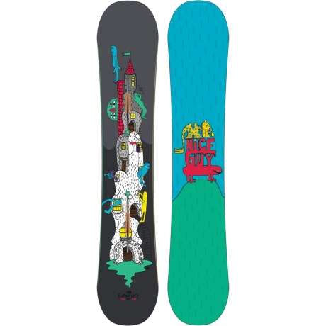 Burton Mr. Nice Guy Snowboard in 158 Graphic