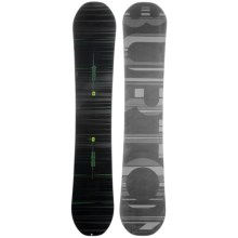 Burton Mystery Flying V Snowboard in 158 Black W/Green Stripes/Black/Grey Stripe Logo - Closeouts