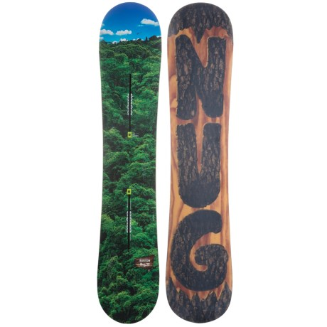 Burton Nug Snowboard in 146 Forrest Blue Helicopter/Bark Carving Bottom