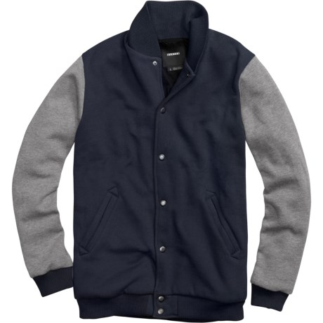 Burton Numberman Baseball-Style Fleece Jacket (For Men) in Ballpoint