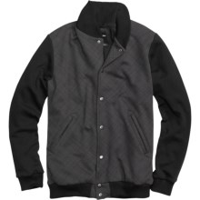 Burton Numberman Baseball-Style Fleece Jacket (For Men) in True Black - Closeouts