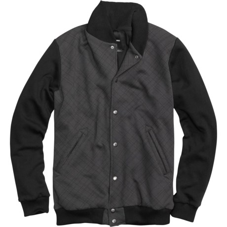 Burton Numberman Baseball-Style Fleece Jacket (For Men) in True Black