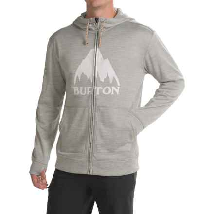 Burton Oak Hoodie - Full Zip (For Men) in Monument Heather - Closeouts