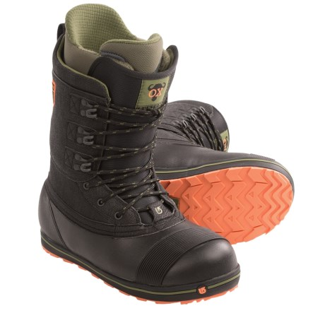 Burton Ox Snowboard Boots (For Men) in Black/Army Green