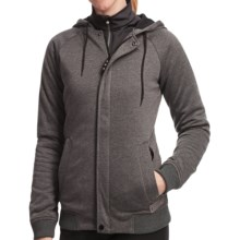 Burton Parker Hoodie Sweatshirt - Insulated, Full Zip (For Women) in True Black Heather - Closeouts