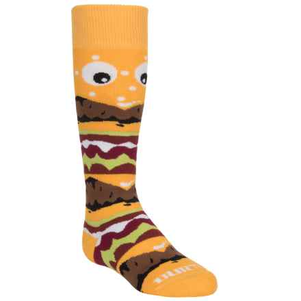 Burton Party Snowboard Socks - Merino Wool Blend, Over the Calf (For Little and Big Kids) in Burger Deluxe - Closeouts