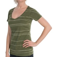 Burton Pendulum Recycled T-Shirt - V-Neck, Short Sleeve (For Women) in Heather Olive - Closeouts