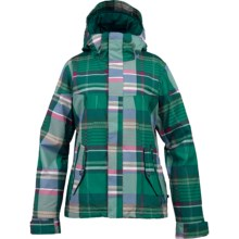 Burton Penelope Snowboard Jacket - Insulated (For Women) in Jade Huntsman Plaid - Closeouts