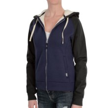 Burton Piper Hoodie - Full Zip, Sherpa Lined (For Women) in Night Rider - Closeouts