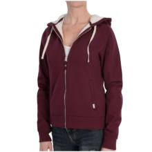 Burton Piper Hoodie - Full Zip, Sherpa Lined (For Women) in Sangria - Closeouts