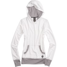 Burton Player Hooded Pullover - Long Sleeve (For Women) in Bright White - Closeouts