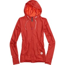Burton Player Hoodie Sweatshirt - Full Zip (For Women) in Tart - Closeouts
