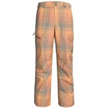 Burton Poacher Snow Pants - Waterproof, (For Men) in Bitters Gingham Fade - Closeouts