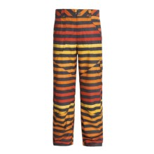 Burton Poacher Snow Pants - Waterproof (For Men) in Hydrant Big Stripe Fade - Closeouts