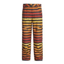 Burton Poacher Snow Pants - Waterproof (For Men) in Hydrant Big Stripe Fade