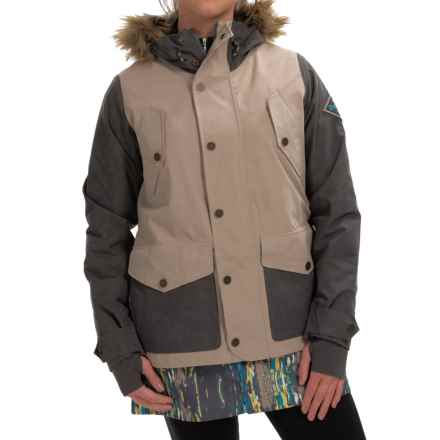 Burton Prestige Thermolite® Snowboard Jacket - Waterproof, Insulated (For Women) in Faded/Sandstruck/Splatter Camo - Closeouts