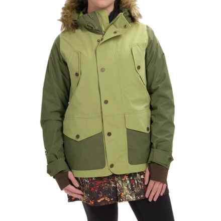Burton Prestige Thermolite® Snowboard Jacket - Waterproof, Insulated (For Women) in Keef/Algea/Acid Flora - Closeouts
