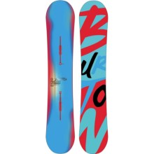 Burton Process Flying V Snowboard in 159 Graphic W/Turquoise/Red Bottom - Closeouts