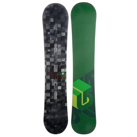 Burton Process Snowboard in 152 Digital/Medium Greem Bottom