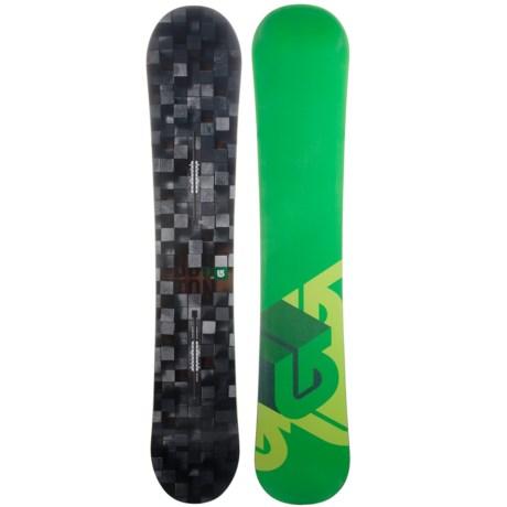 Burton Process Snowboard in 162 Digital/Green Bottom