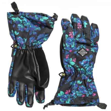Burton Profile Gloves - Insulated, Touchscreen Compatible (For Girls) in Pop Floral - Closeouts