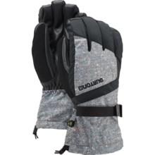Burton Profile Touch-Fasten Gloves - Waterproof, Insulated (For Men) in Herringbone/True Black - Closeouts