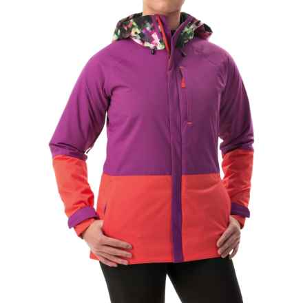 Burton Radar Snowboard Jacket - Waterproof, Insulated (For Women) in Pixel Floral/Grapesee/Tropic - Closeouts