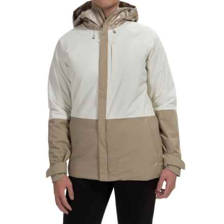 Burton Radar Snowboard Jacket - Waterproof, Insulated (For Women) in Sandstruck Metallic/Stout White/Sandtruck - Closeouts