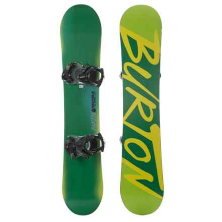 Burton Ready to Ride Snowboard (For Youth) in Lime - Closeouts