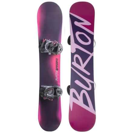 Burton Ready to Ride Snowboard Package (For Women) in Purple/Fuschia W/Pink Burton - Closeouts