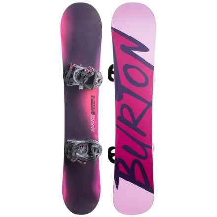 Burton Ready to Ride Snowboard Package (For Women) in Purple/Fuschia W/Purple Burton - Closeouts