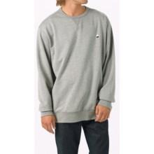 Burton Roe Crew Sweatshirt (For Men) in Monument Heather - Closeouts