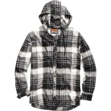 Burton Ruckus DryRide Hooded Flannel Shirt - Long Sleeve (For Men) in True Black Vandyke Plaid - Closeouts