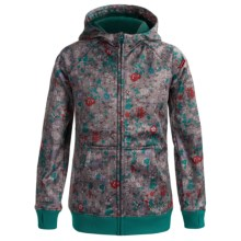 Burton Scoop Fleece Hoodie Sweatshirt - Full Zip (For Girls) in Chambray Floral - Closeouts