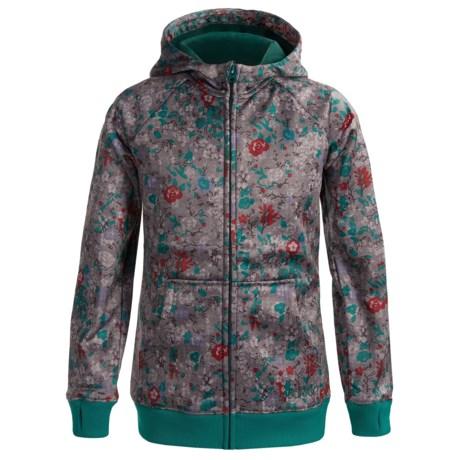 Burton Scoop Fleece Hoodie Sweatshirt - Full Zip (For Girls) in Chambray Floral
