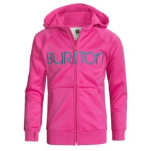 Burton Scoop Fleece Hoodie Sweatshirt - Full Zip (For Girls) in Hot Streak - Closeouts