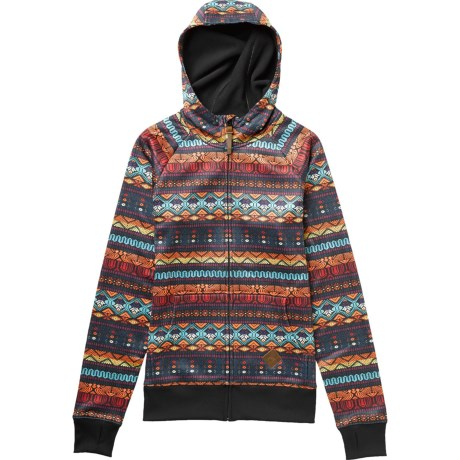Burton Scoop Hoodie Sweatshirt - Full Zip (For Women) in Antigua Stripe